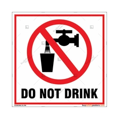Do Not Drink Square Signboard