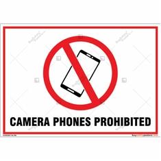 Camera Phones Prohibited Landscape Sign