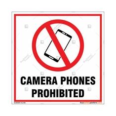 Camera Phones Prohibited Square Sign