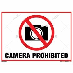 Camera Prohibited Landscape Sign