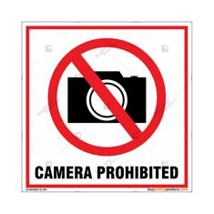 Camera Prohibited Square Sign