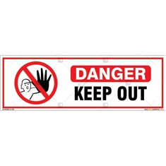 Danger Keep Out Sign in Rectangle