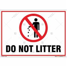 Do Not Litter Landscape Sign