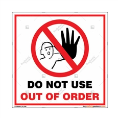 Do Not Use Out Of Order Square Sign