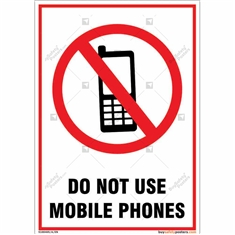 Do Not Use Mobile Phones Portrait Signboard