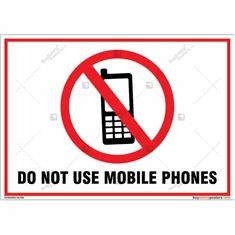 Do Not Use Mobile Phones Landscape Signboard