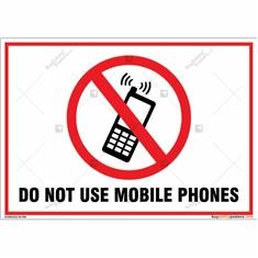 Do Not Use Mobile Phones Landscape Sign