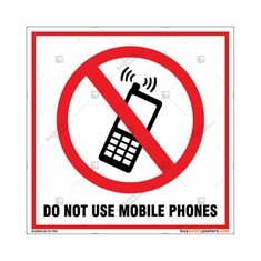 Do Not Use Mobile Phones Square Sign