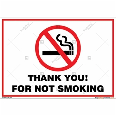 Thank You For Not Smoking Landscape Sign