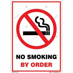 No Smoking By Order Sign Portrait