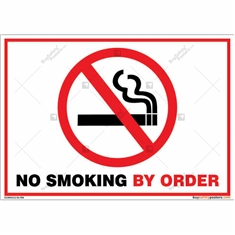 No Smoking By Order Sign Landscape