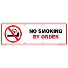 No Smoking By Order Sign