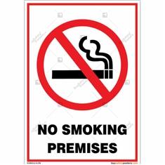 No Smoking Premises Sign Portrait