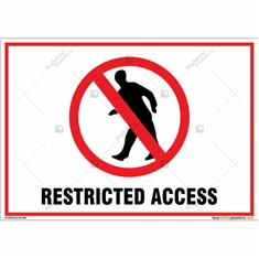 Restricted Access Landscape Signboard