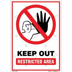 Keep Out Restricted Area Portrait Sign