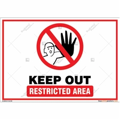 Keep Out Restricted Area Landscape Sign