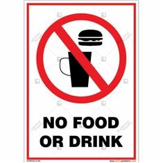 No Food Or Drinks Portrait Sign
