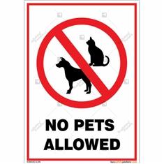 No Pets Allowed Portrait Sign