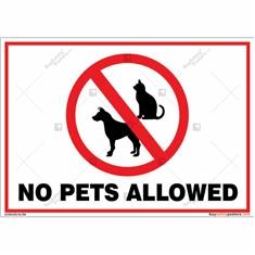 No Pets Allowed Landscape Sign