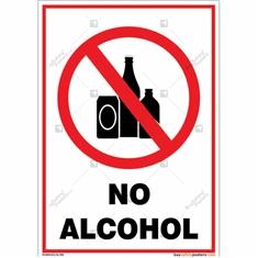No Alcohol Portrait Sign