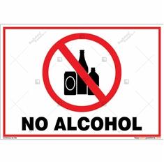 No Alcohol Landscape Sign