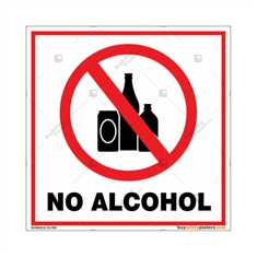 No Alcohol Square Sign