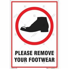 Please Remove Your Shoes Portrait Sign