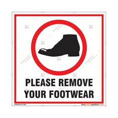 Please Remove Your Shoes Square Sign