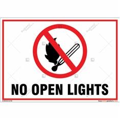 No Open Lights Landscape Signboard