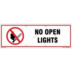 No Open Lights Signboard