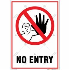 No Entry Portrait Signboard