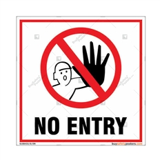 No Entry Square Signboard