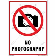 No Photography Portrait Signboard