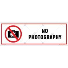 No Photography Signboard
