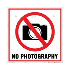 No Photography Square Signboard