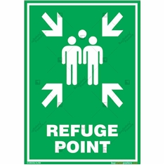 Refuge Point Sign in Portrait