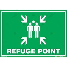 Refuge Point Sign in Landscape