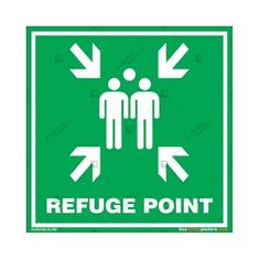 Refuge Point Sign in Square