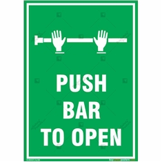 Push Bar to Open Sign in Portrait