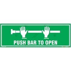 Push Bar to Open Sign in Rectangle