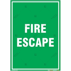 Fire Escape Sign in Portrait