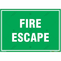 Fire Escape Sign in Landscape