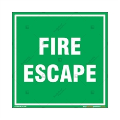 Fire Escape Sign in Square