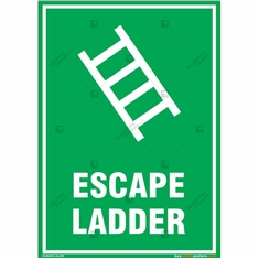 Escape Ladder Sign in Portrait