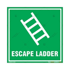 Escape Ladder Sign in Square