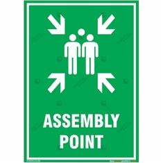 Assembly Point Sign in Portrait