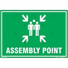 Assembly Point Sign in Landscape