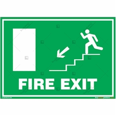 Fire Exit Signs in Landscape