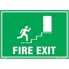 Fire Exit Door Sign in Landscape