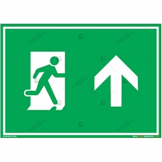 Straight Exit Sign in Landscape